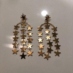 J. Crew Star Dangle Gold Earrings